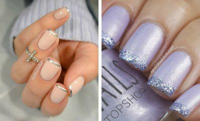 Light Blue Acrylic Nails Almond Short