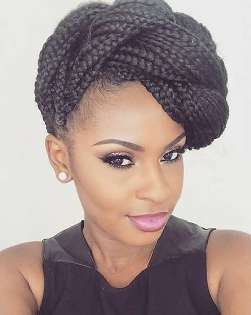 Braided Poetic Justice Braids Updo