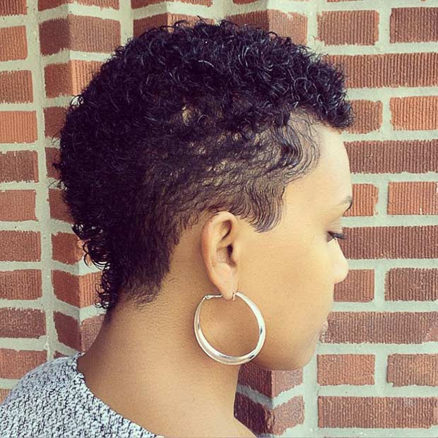 Short Curly Haircut for Black Women