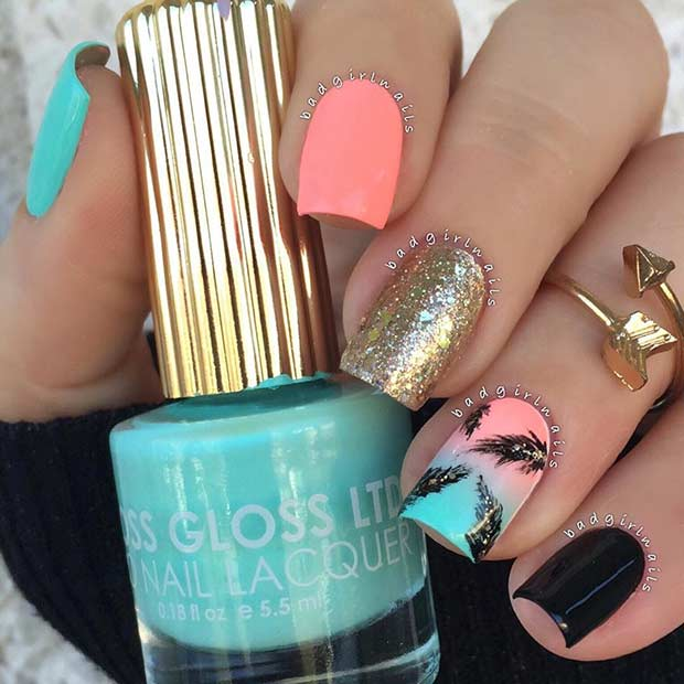 Bright Summer Nail Design 2016