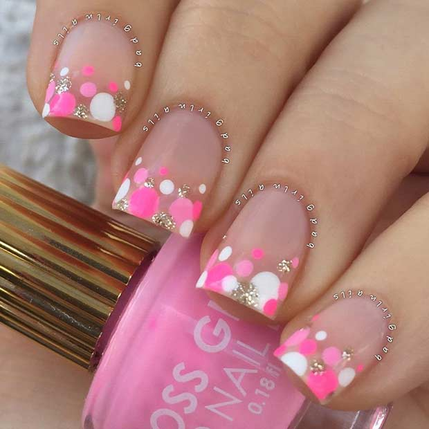 Colorful Summer Dots Nails