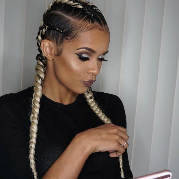 Ghana Braids Cornrows Hair Styles