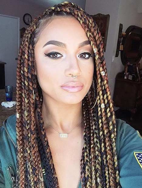 Magnificent Poetic Justice Braids With Two Colors Braids Short Hairstyles For Black Women Fulllsitofus