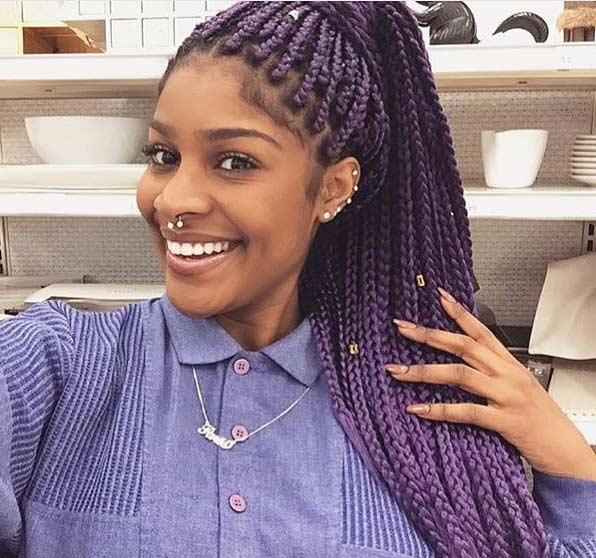Purple Poetic Justice Braids