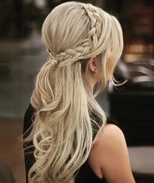 Elegant Half Up Hairstyle for Brides or Bridesmaids