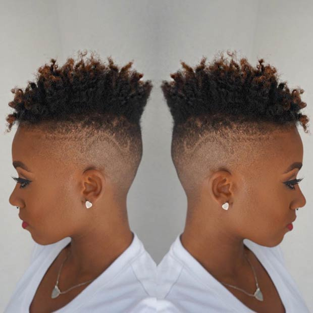 Natural Fade Haircut for Black Women