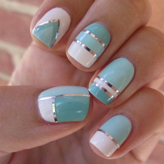 Blue and White Nail Design for Summer - 35 Bright Summer Nail Designs StayGlam