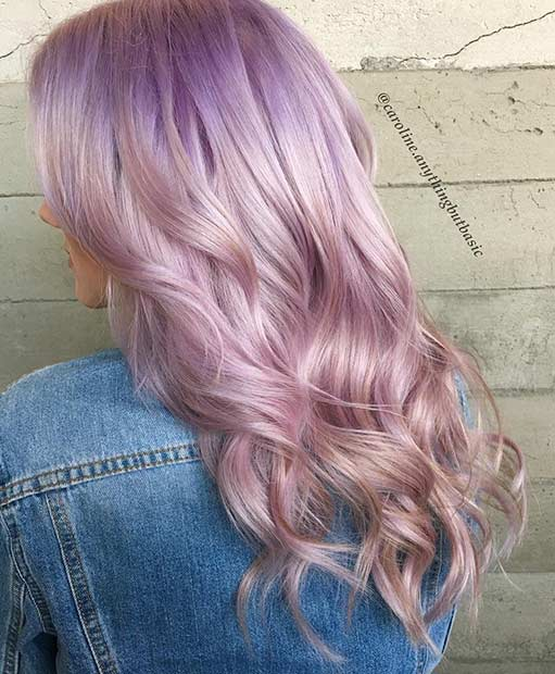 Ice Lavender Hair Color Idea