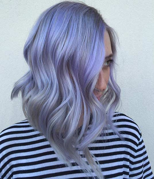 25 Beautiful Lavender Hair Color Ideas Stayglam