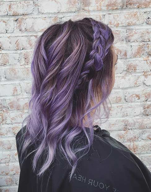 Bohemian Lavender Hair Color Idea