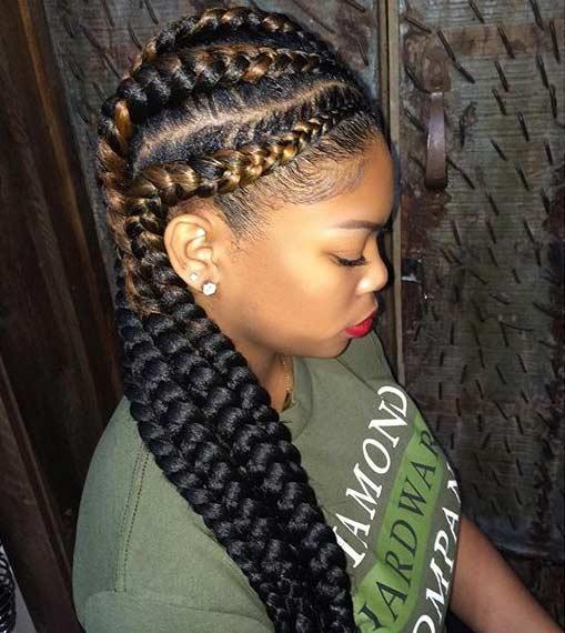 Stupendous 31 Best Ghana Braids Hairstyles Page 3 Of 3 Stayglam Short Hairstyles Gunalazisus
