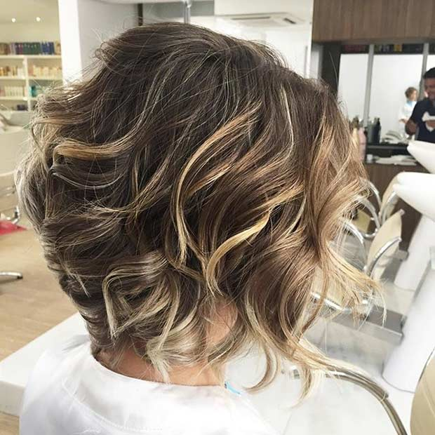 Short hair with blonde and brown highlights brown hairs short hair caramel highlights on dark bob haircut pmusecretfo Gallery