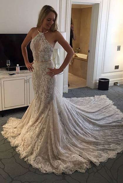 31 most beautiful wedding dresses stayglam a line lace wedding dress junglespirit