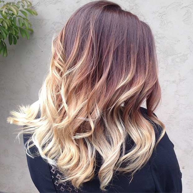 Auburn and Blonde Balayage Hair
