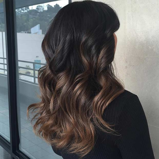 Dark and Light Brunette Balayage Hair