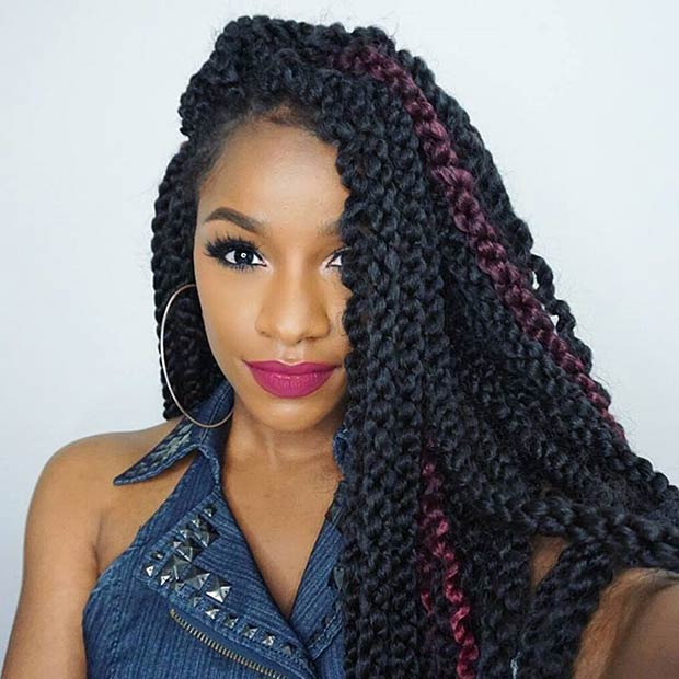 Crochet 3D Cubic Twist Hairstyle