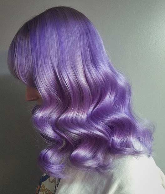Vibrant Lavender Hair Color Idea