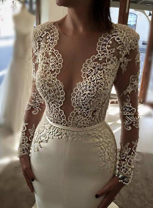 Sexy Wedding Dress with Long Sleeves