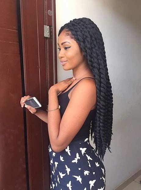 Long Crochet Twist Hairstyle