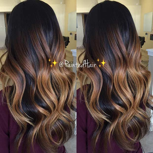 31 balayage hair ideas for summer stayglam - Balayage caramel sur base brune ...
