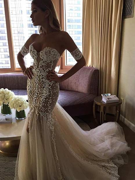 Sexy Off Shoulder Wedding Dress
