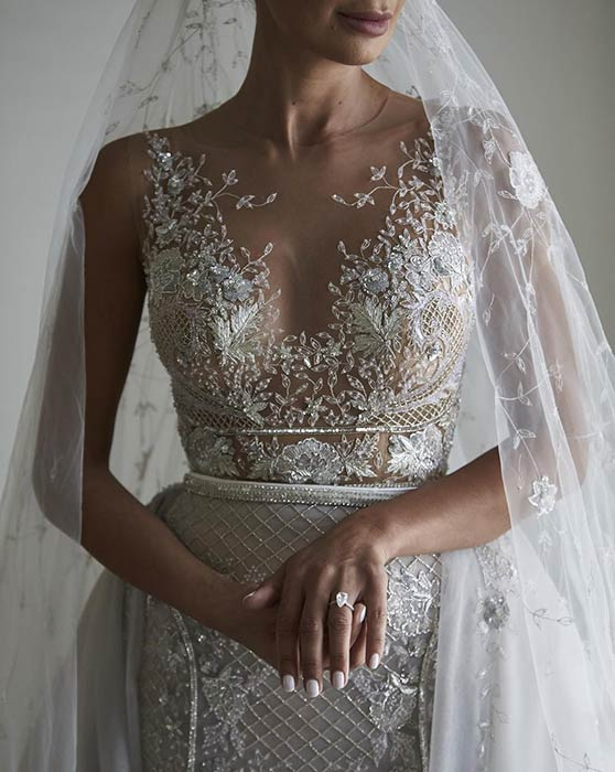 Glamorous See Through Wedding Dress