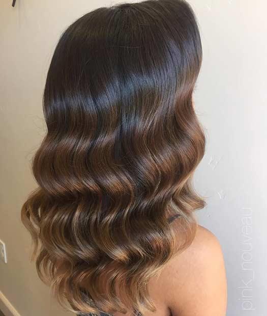 Soft Subtle Light Brown Balayage Hair