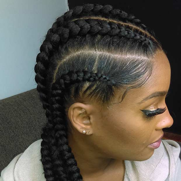 31 Best Ghana Braids Hairstyles | StayGlam