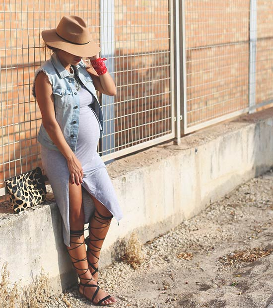 1ae1200965c41 25 Cute Pregnancy Outfits for Summer | StayGlam