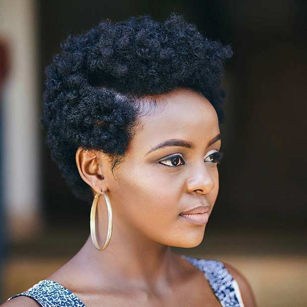 Natural Hairstyles 75 most inspiring natural hairstyles for short hair Cute Short Natural Hairstyle