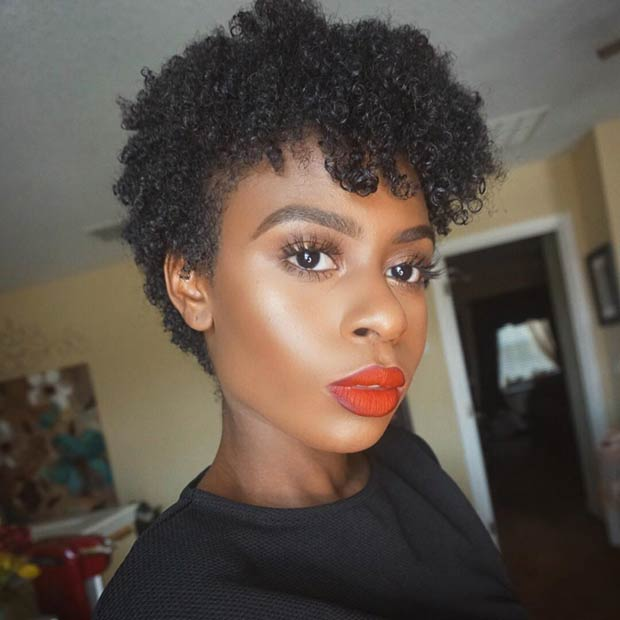 Natural Long Pixie Haircut for Black Women