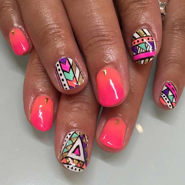 35 Bright Summer Nail Designs   Page 2 of 3   StayGlam