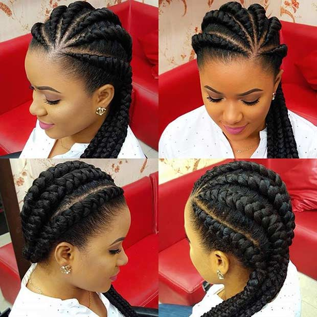 Ghana Braids Protective Hairstyle - 31 Best Ghana Braids Hairstyles StayGlam