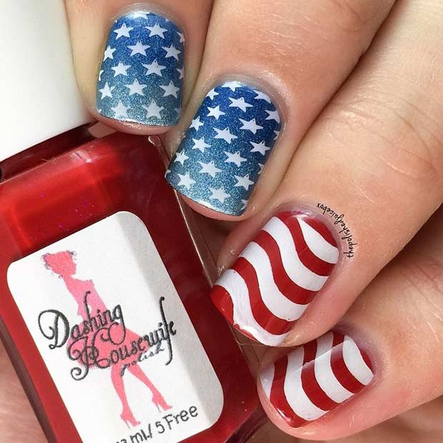 31 Patriotic Nail Ideas For The 4th Of July Page 2 Of 3 Stayglam