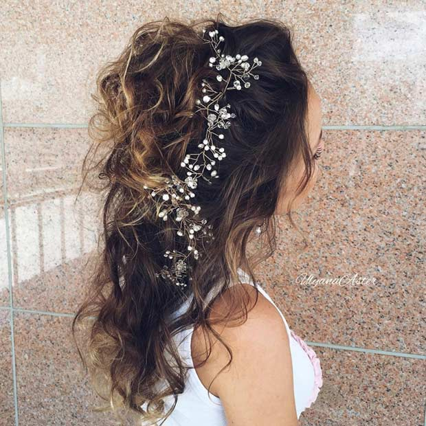 Astounding 31 Half Up Half Down Hairstyles For Bridesmaids Stayglam Hairstyles For Women Draintrainus