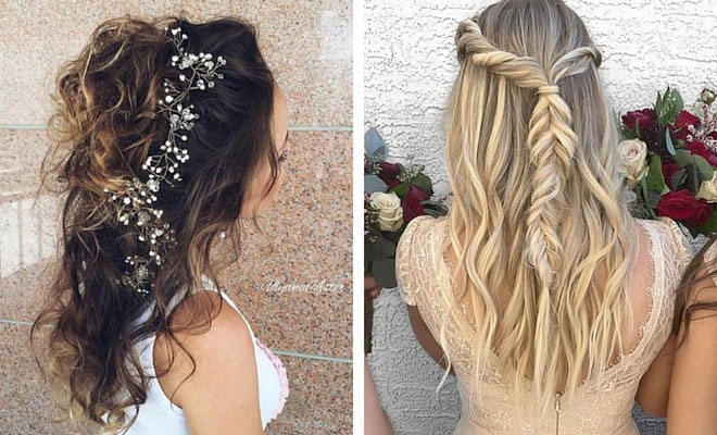 Hair Style Up For Wedding: 31 Half Up, Half Down Hairstyles For Bridesmaids