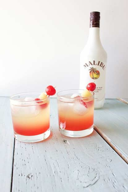Malibu Sunset Summertime Drink