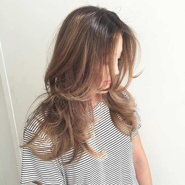 Bronde Hair with Layers