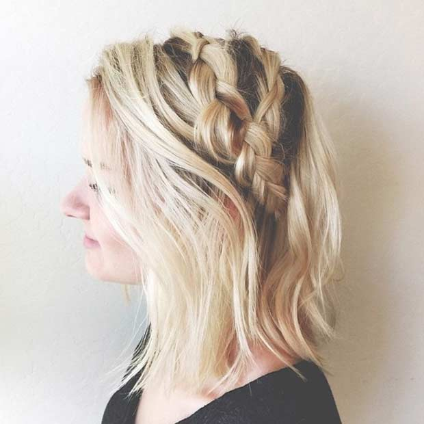 Boho Braided Hairstyle for Medium Length Hair