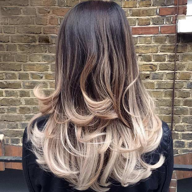 Layered Ombre Long Hairstyle