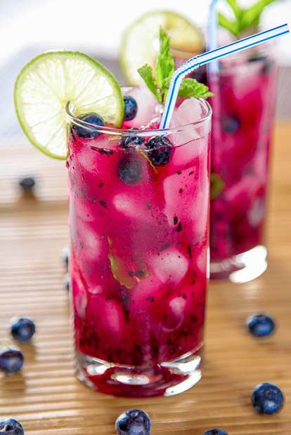Blueberry Mojito Sweet Summer Cocktail