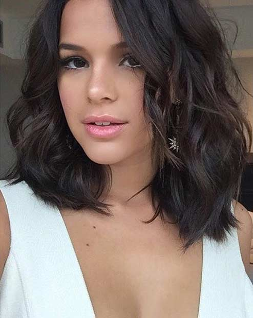 Messy Long Bob Haircut Idea
