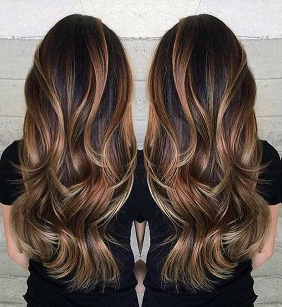 Layered Haircut with a Touch of Balayage