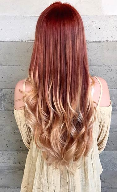 31 Best Red Ombre Hair Color Ideas Stayglam Page 3