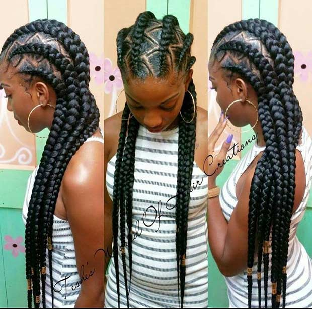 Excellent 31 Cornrow Styles To Copy For Summer Page 3 Of 3 Stayglam Hairstyle Inspiration Daily Dogsangcom