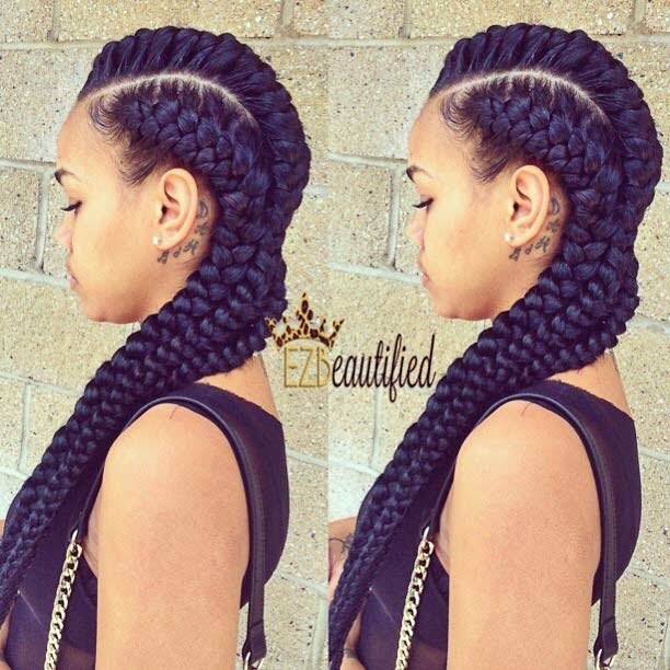 Jumbo Goddess Cornrows for Black Women