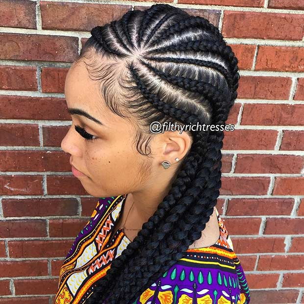 how to do weave : 31 Cornrow Styles to Copy for Summer StayGlam