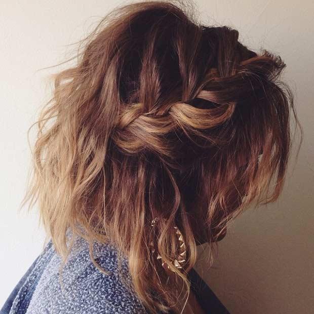 Prime 17 Chic Braided Hairstyles For Medium Length Hair Stayglam Short Hairstyles Gunalazisus