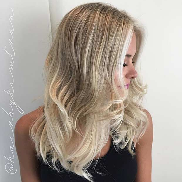 Layered Haircut with Babylights