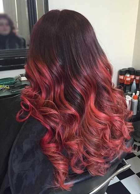 31 Best Red Ombre Hair Color Ideas | Page 3 of 3 | StayGlam